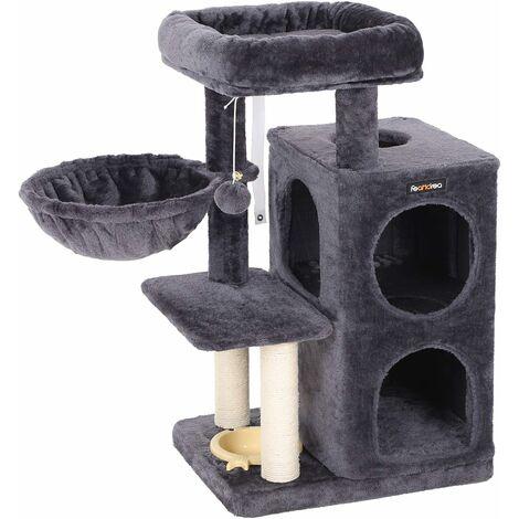 feandrea stabiler kratzbaum 90cm mit fressnapf katzenbaum. Black Bedroom Furniture Sets. Home Design Ideas