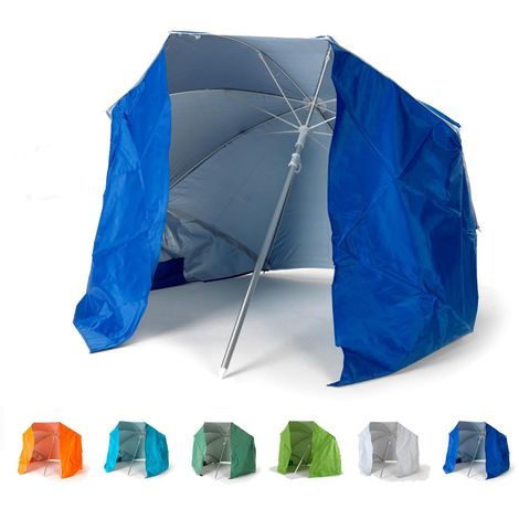 FEATHER 160cm Portable All-Weather Beach Umbrella And Sun Shelter