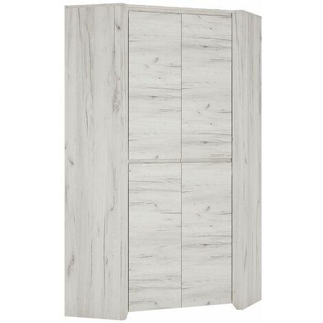 Feather Corner Fitted Bedroom Wardrobe Hanging Rail Adjustable Shelves