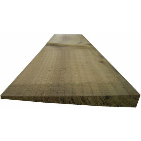 Feather Edge Fencing Treated Wood Close Board 150mm - L: 1.2m - pack of 10