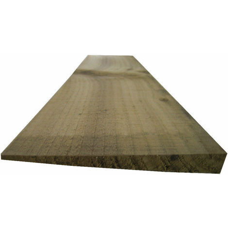 Feather Edge Fencing Treated Wood Close Board 150mm - L: 1.65m - pack of 50