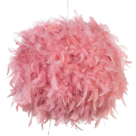 Feather Pendant Lamp Pink DRAVA