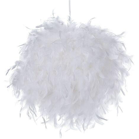 Feather Pendant Lamp White DRAVA