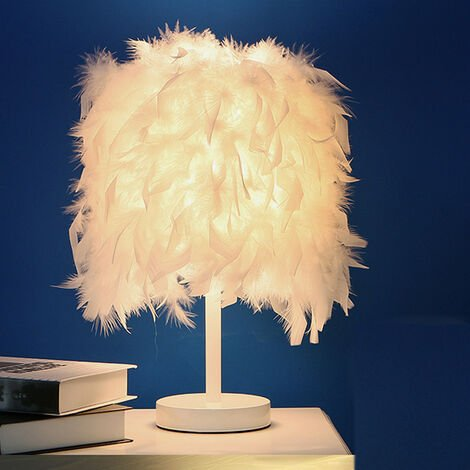 Feather Table Light Modern Desk Light Romantic Table Lamp E27