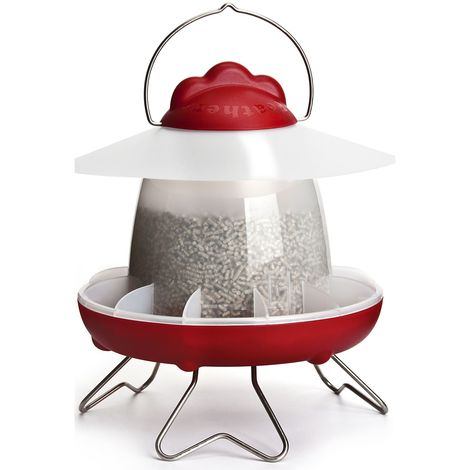 Feathers And Beaky Chicken Feeder (1.8kg) (Red)