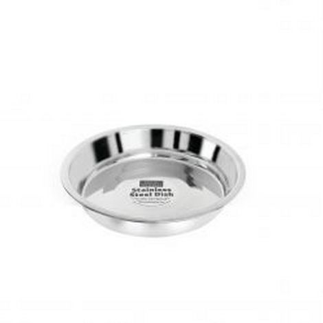 Fed ´N´ Watered Stainless Steel Kitty & Puppy Flat Pans (20cm) (May Vary)