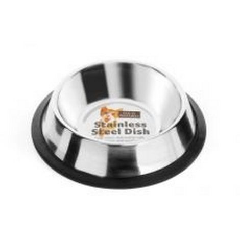 Fed N Watered Stainless Steel Non Tip Cat Dish (300ml) (May Vary)