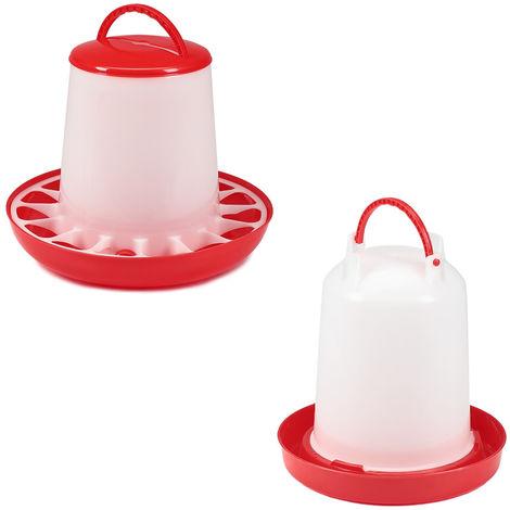 Feed dispenser chicken drinker 3KG chicken drinker 3L plastic set