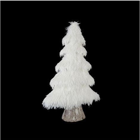 Feeric Christmas - Arbre de Noël Sapin artificiel blanc pailleté H 50 cm