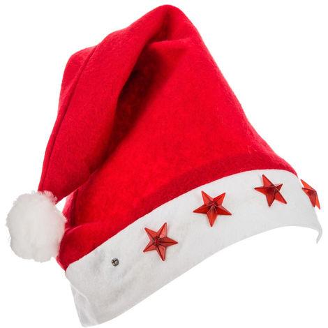 Feeric Christmas - Bonnet de Noël Lumineux étoiles LED pour Adulte taille unique Les incontournables