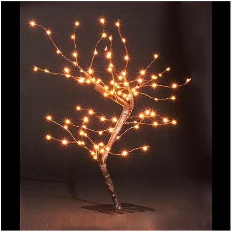 Feeric Christmas - Décoration de Noël Arbre lumineux 100 LED Copper Blanc chaud H 45 cm