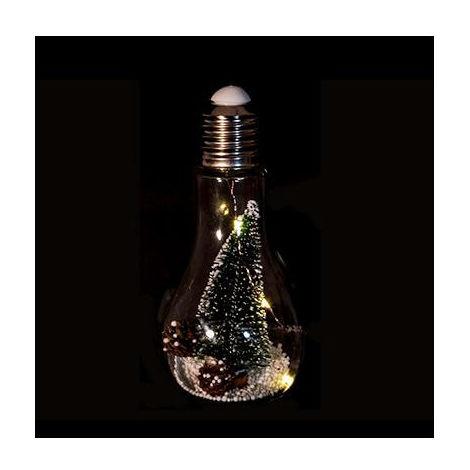 Feeric Christmas - Décoration de Noël Lumineuse Suspension Ampoule 3 LED avec sapin