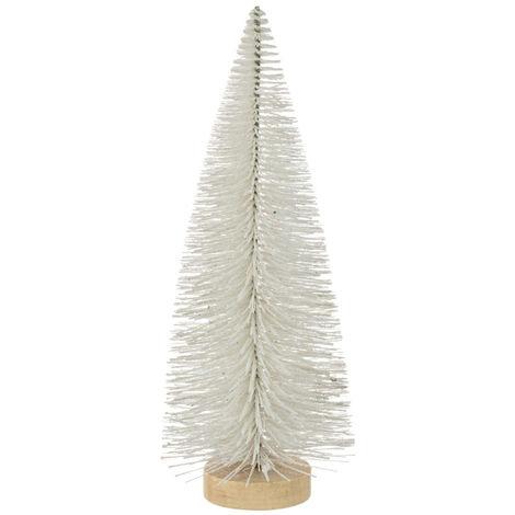 Feeric Christmas - Décoration de Noël Sapin de table artificiel blanc H 25 cm