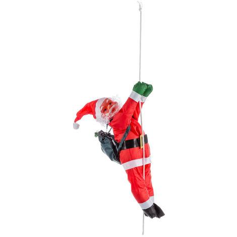 Feeric Christmas - Décoration Père Noël grimpeur avec sa corde H 60 cm Les incontournables