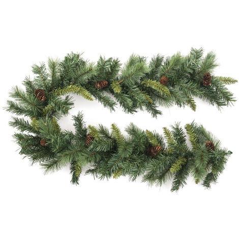 Feeric Christmas - Guirlande artificiel sapin Vert avec Pommes de Pin L 180 cm collection Royal Malestic