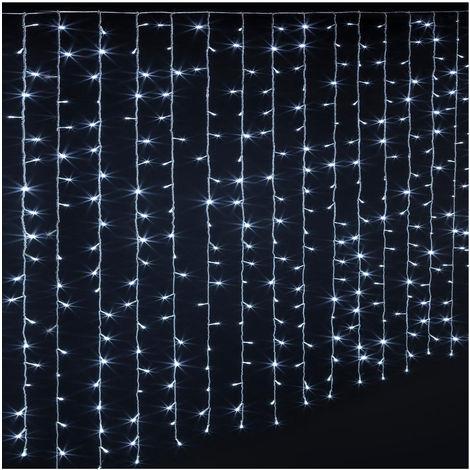 2x1m 160 DEL Guirlande filet rideau lumineux deco Eclairage Pour Extérieur