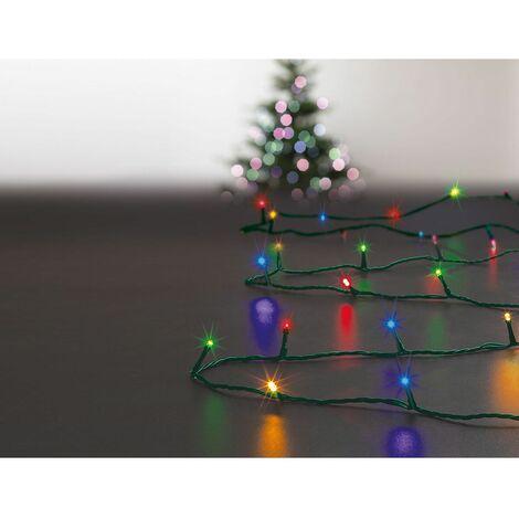 Feeric Christmas Guirlande Lumineuse D Extérieure Solaire 200 Led Multicolores
