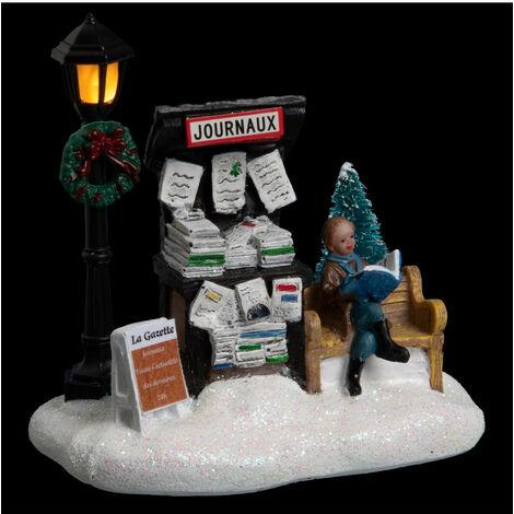 Feeric Christmas - Village de Noël lumineux  scène de noël à piles