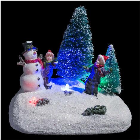 Feeric Christmas - Village de Noël lumineux Scène de Noël autour de sapins Collection Village au village