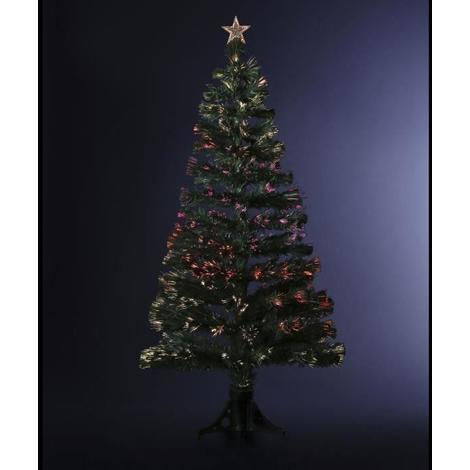 FEERIC LIGHT & CHRISTMAS Sapin d'Intérieur lumineux Fibre Optique - Vert - 90 cm