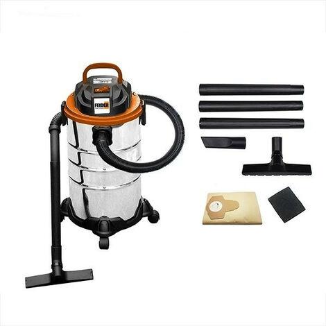 FEIDER Aspirateur eau et poussière 1250 W 30 L - Cuve Inox FHAEP125030L