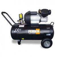 FEIDER Compresseur 100 litres 3 cv - bi-cylindre lubrifié FC100L-A