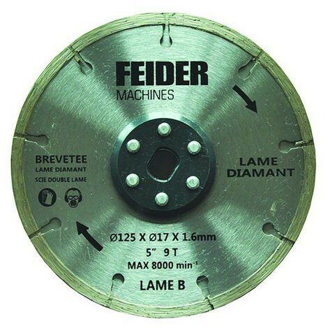 FEIDER Lame TCT 125MM FDL125 DB