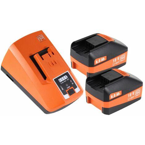 FEIN ABH 18 Perforateur-burineur sans fil 2.0J 18V SDS-plus Brushless + 2x Batteries 6,0Ah + Chargeur + Coffret de transport
