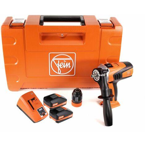 FEIN ASCM 18 QM Perceuse-visseuse sans fil - 4 vitesses 18V 90Nm ( 71161164000 ) Set + Coffret de transport + 2x Batteries 3,0 Ah + Chargeur