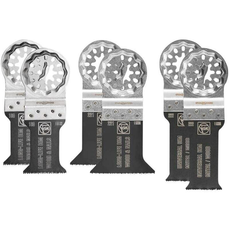 Image of Fein 35222952300 Starlock Plus Best of E-Cut Multi-Tool Blades 6 Piece