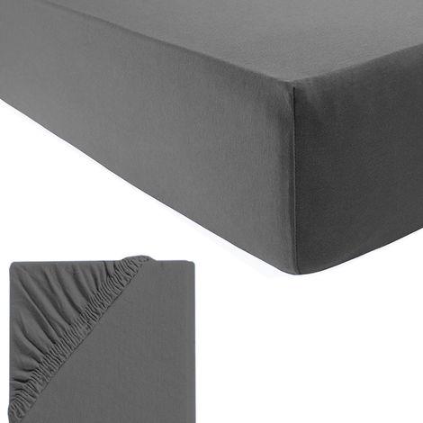 Fein-Jersey Spannbetttuch für Wasser-und Boxspringbetten-D700940-Anthrazit