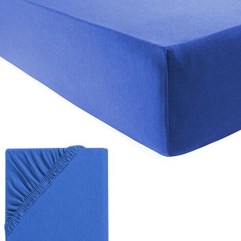 Fein-Jersey Spannbetttuch für Wasser-und Boxspringbetten-M700940-Blau
