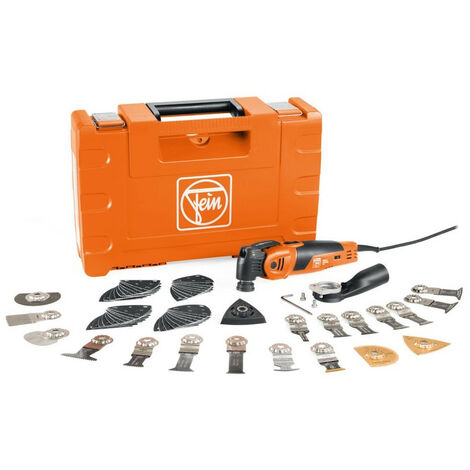 Fein MM700 Multimaster Max Top - Outil multifonction + set d'accessoires (60pcs) dans coffret - 450W 72296861000 450W