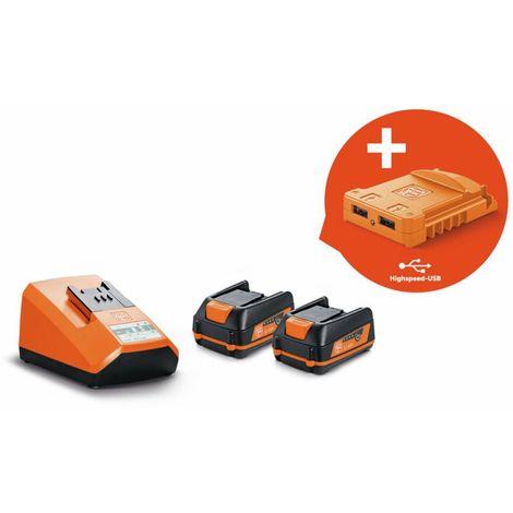 Fein Set de démarrage batteries USB EDITION, 2 batteries 12V, 3Ah - 92604317020