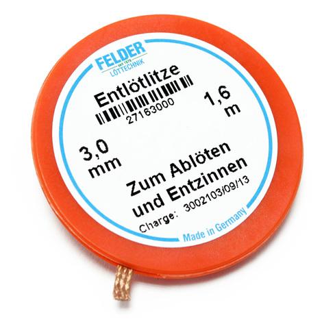 """main image of """"Felder malla de desoldar 3,0 mm x 1, 6 m empapada de fundente"""""""