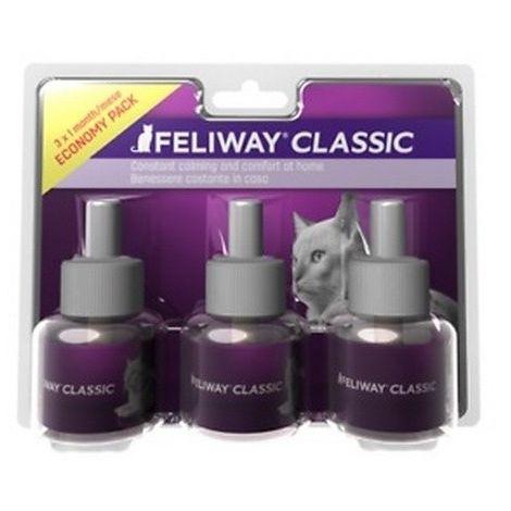 Feliway Diffuser Cat Pheromone Refill Liquid (Pack Of 3) (3 x 48ml) (May Vary)
