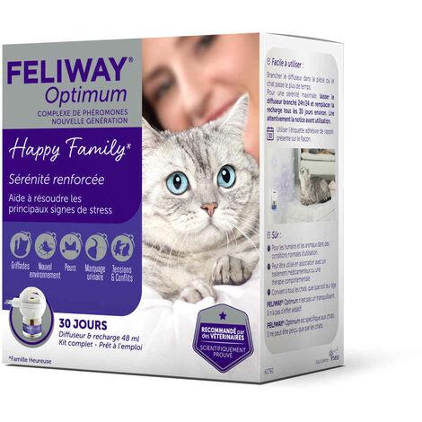 Feliway Optimum - Diffuseur + Recharge 30J pour le Stress du Chat - 48ml