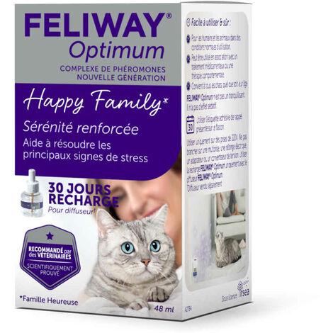 Feliway Optimum - Recharge 30J pour le Stress du Chat - 48ml