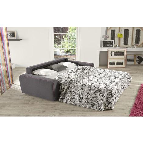 Fellini 3 Seater Italian Fabric Sofa Bed Grey