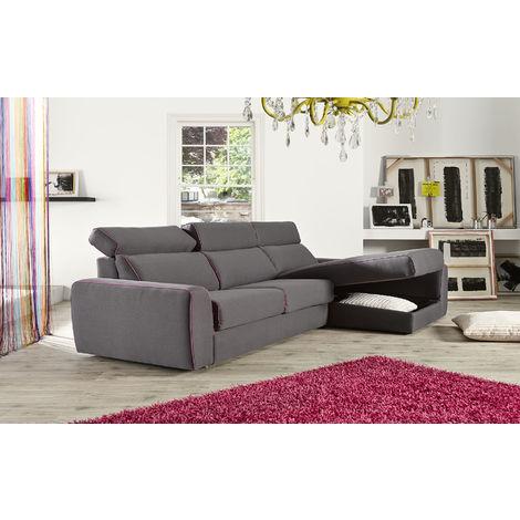 Fellini Corner Italian Fabric Sofa Grey