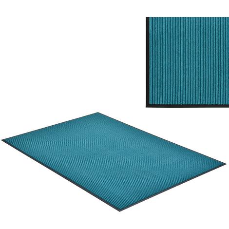 Felpudo atrapasuciedad alfombra de entrada felpudo para puerta turquesa 150 x 90 cm