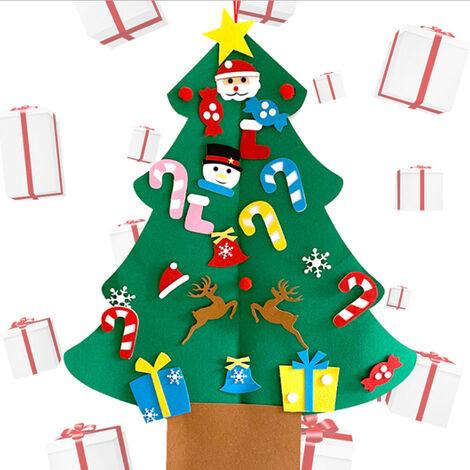 """main image of """"Felt Arbre De Noel Decoration Kids Set Cadeau De Noel Bricolage Feutre Arbre De Noel Hanging Decoration Murale Avec Ornements Amovible, 1#"""""""