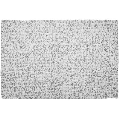 Felt Ball Rug 160 x 230 cm Light Grey AMDO