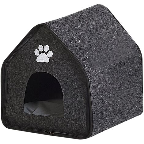 Felt Dog House 40 x 40 cm Grey JANGI