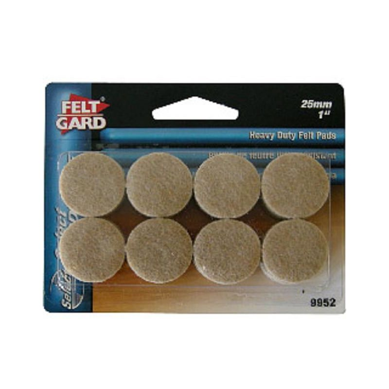 Image of Round Pads - 25mm - Pack of 16 - Felt Gard