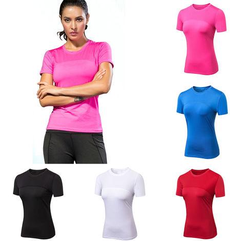 Femmes A Manches Courtes, Chemises De Course De Yoga D'Entrainement, L
