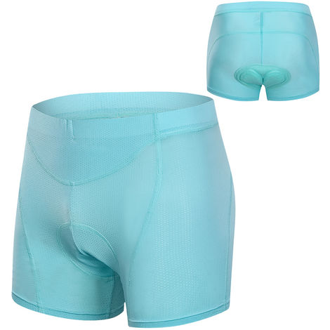 Femmes Cyclisme Sous-Vetements 3D Rembourre Mesh Respirant Vtt Velo Equitation Vtt Shorts Sous-Vetements, Bleu Lac, M