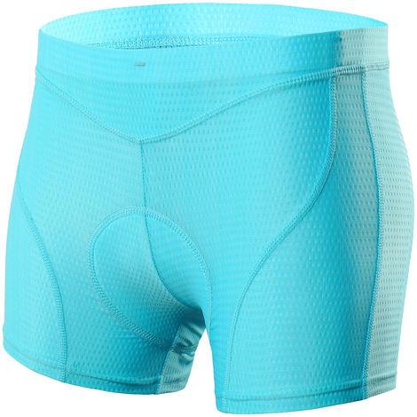 Femmes Velo Sous-Vetements 3D Matelassee Vtt Velo & Velo Shorts Sous-Vetements, Bleu, Xxl