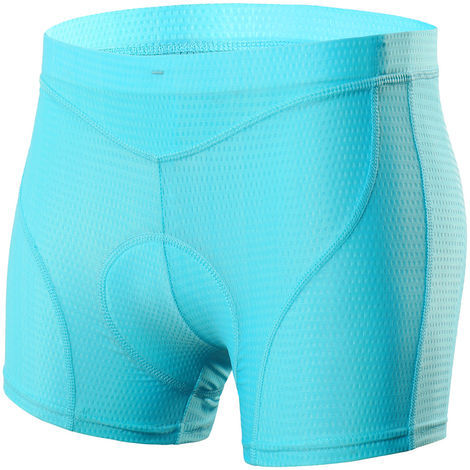 Femmes Velo Sous-Vetements 3D Matelassee Vtt Velo & Velo Shorts Sous-Vetements, Blue, Xl