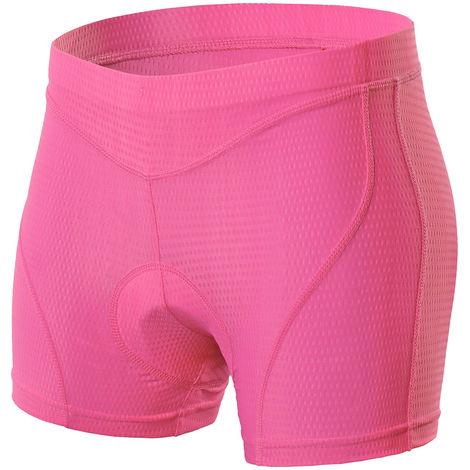 Femmes Velo Sous-Vetements 3D Matelassee Vtt Velo & Velo Shorts Sous-Vetements, Rose, S